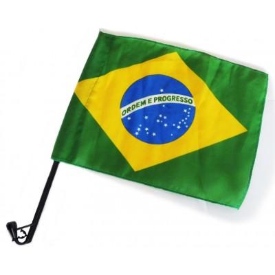 Drapeau Brésil avec bâton