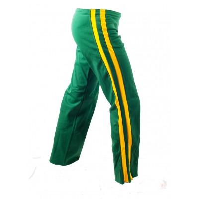 Pantaloni per Capoeira verde e giallo