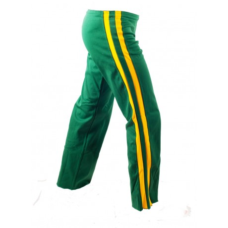 Capoeira Pants Green and Yellow