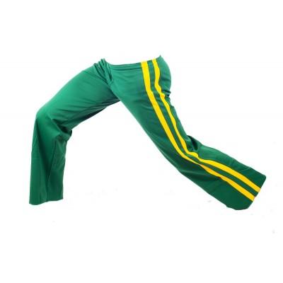 Abada de Capoeira Verde e Amarelo