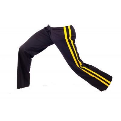 Pantalones de Capoeira negro y amarillo