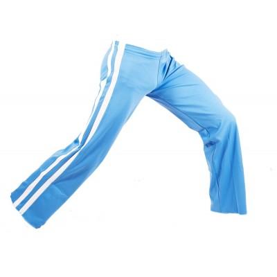 Calças de capoeira azul e branco MS