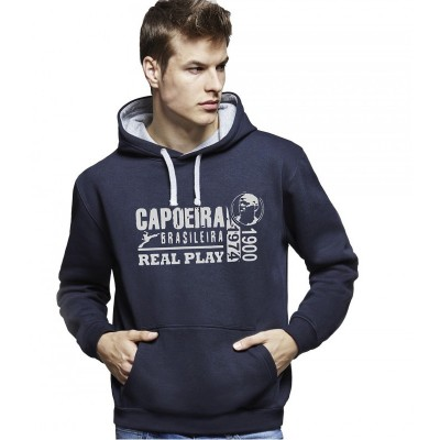 Camisola Capuz Capoeira - Unissex Real Play Azul