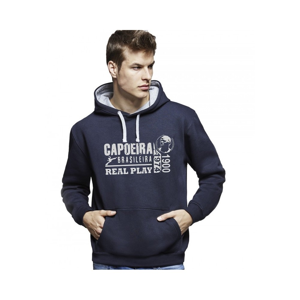 Sweat Capuche Capoeira - Unisexe Real Play Bleu