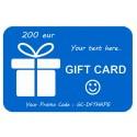 Carte cadeau 200eur