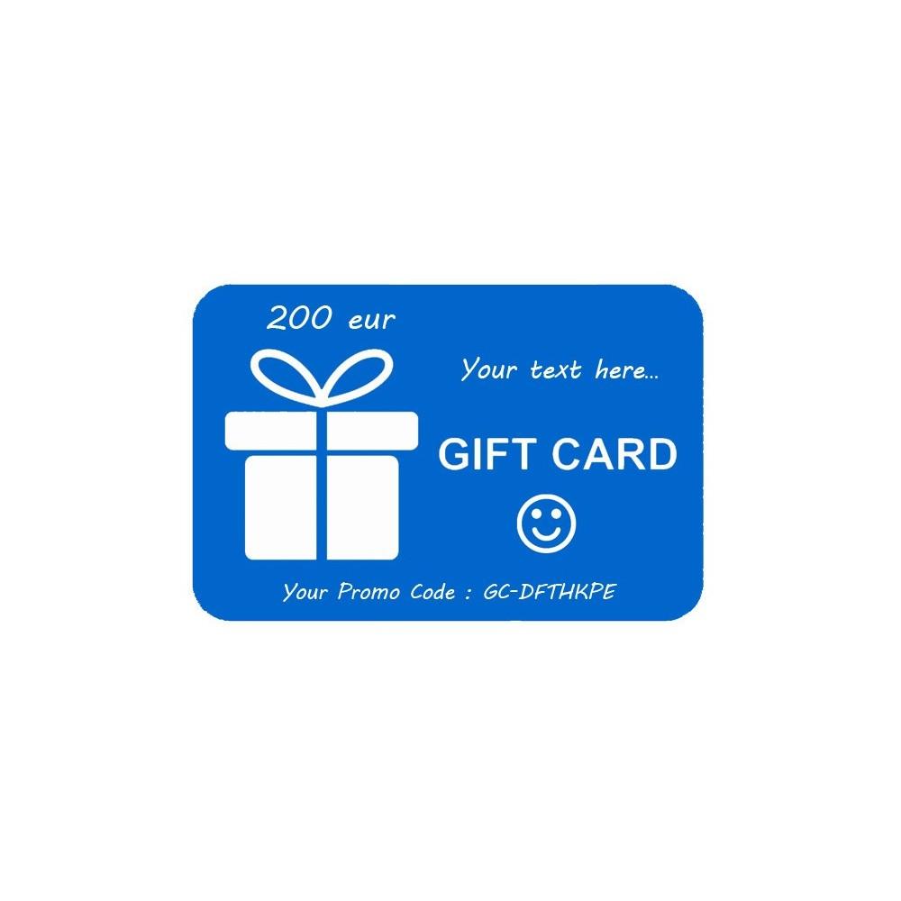 Tarjeta de regalo 200eur