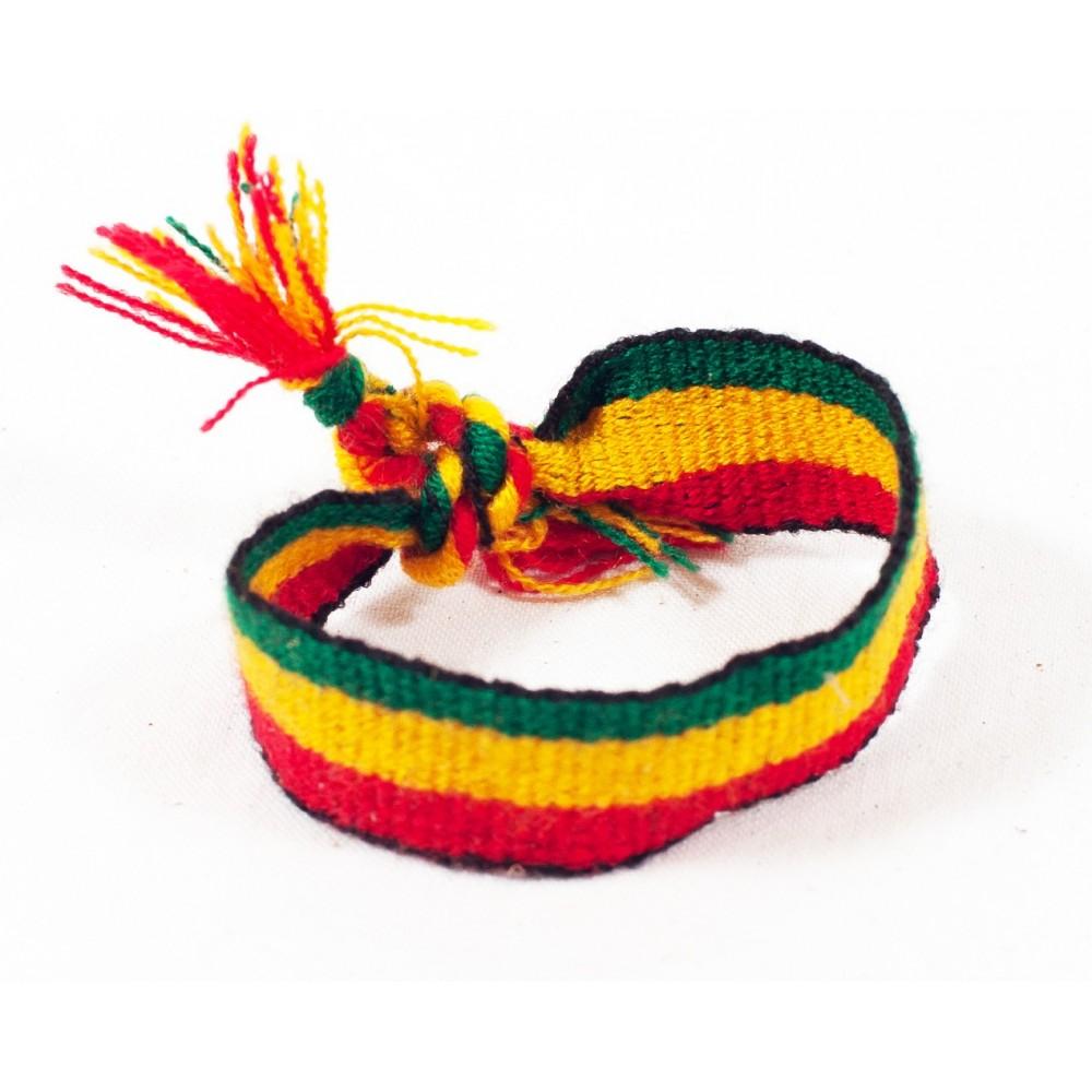 Bracelet Brésilien fil tressé Jamaique