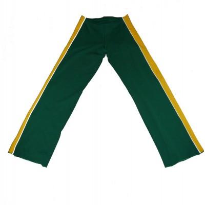 Calças de capoeira Dibum verde e amarelo