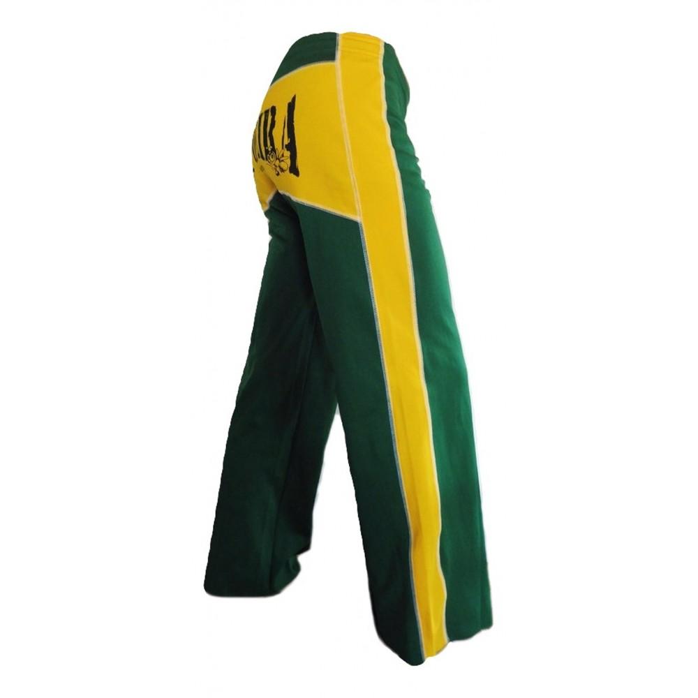 Abada Capoeira - verde e giallo
