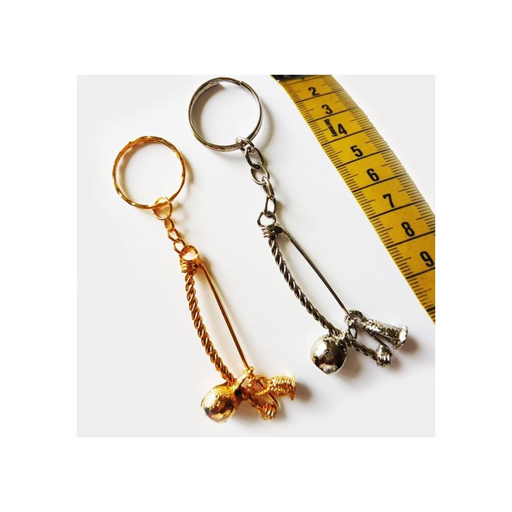 Metall-Schlüsselanhänger Berimbau