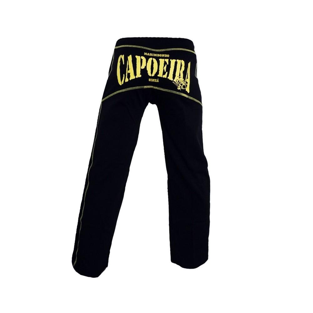 Abada de Capoeira - Dibum Preto amarelo