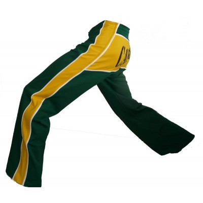 Capoeira pants - Dibum Green and Yellow
