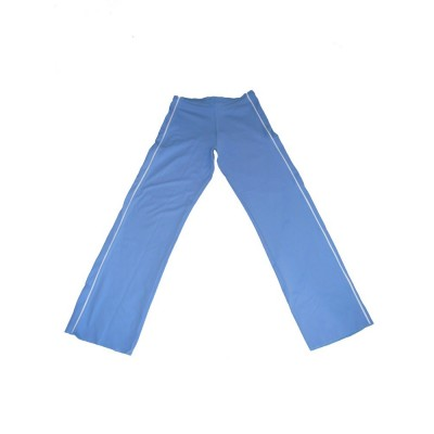 Calças Capoeira azul de luz e borda branca