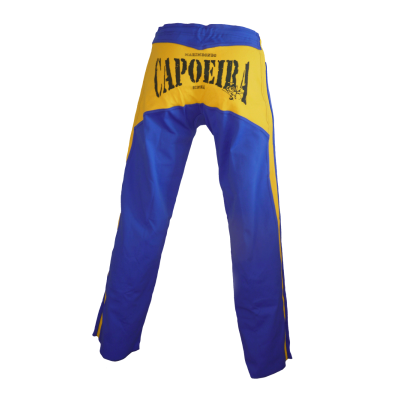 Blue King and yellow stripes Capoeira Abada