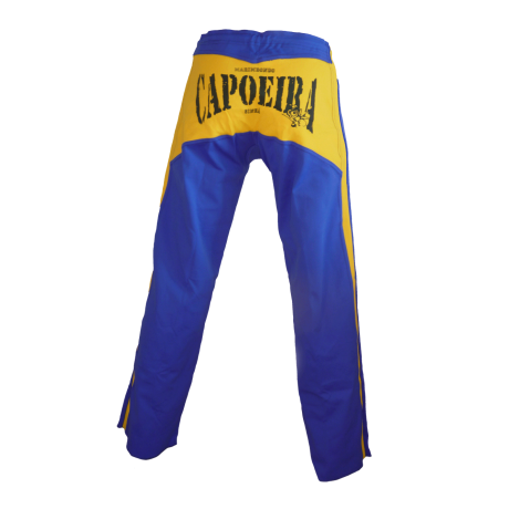 Capoeira's Abada - Blue King and yellow stripes