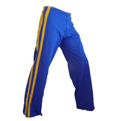 Pantalón azul y amarillo rayado Rey Dibum