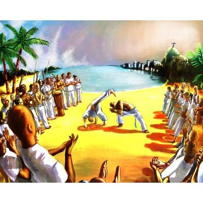 Dessin sous verre Capoeira
