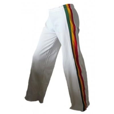 Calças de capoeira infantil - Jamaica branco