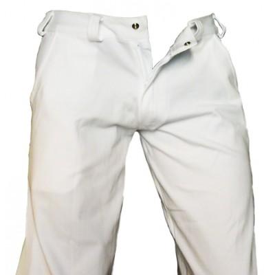 Pantalon Capoeira Blanc - (Angola-Regional)