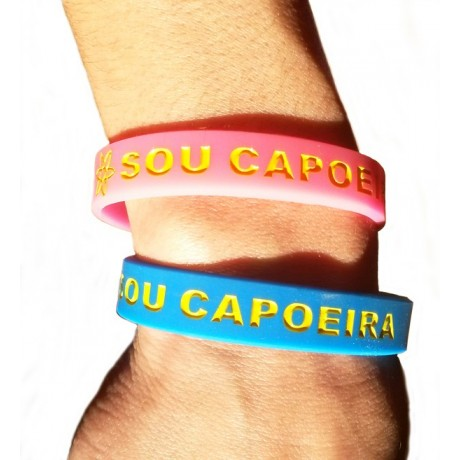 "Silicone Bracelet Girl and Boy ""Sou Capoeira"""