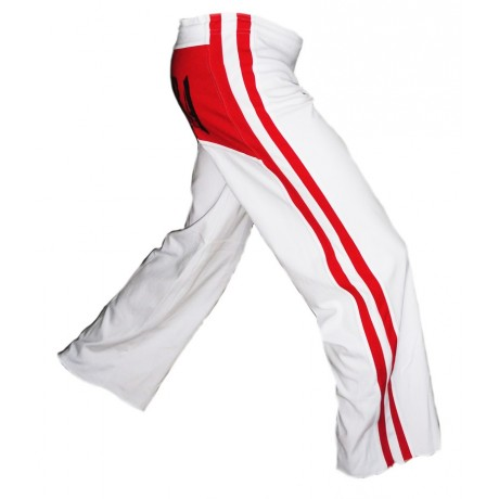 Pantalon Blanc et Rouge Capoeira Dibum