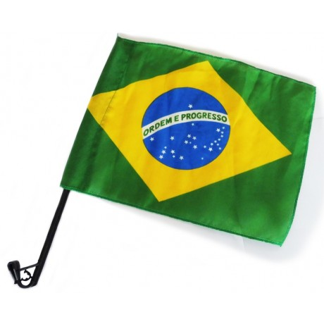 Brazil flag with stick