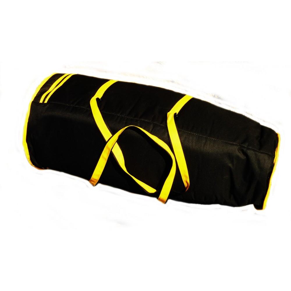 Cover atabaque black yellow 105cm GEOMAR