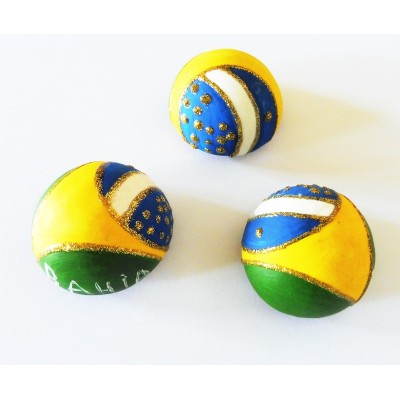Magnet Brazil embossed (ball)