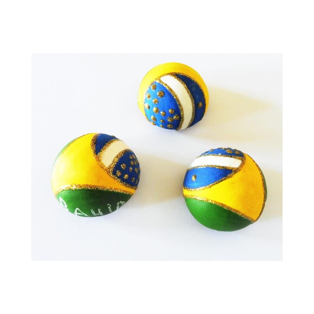 Magnet Brésil en relief (boule)