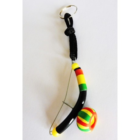 Key ring mini Berimbau black