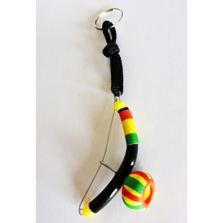 Schlüsselanhänger Mini Berimbau schwarz