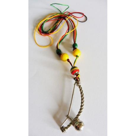 Collier Pendentif Berimbau Capoeira RJVN