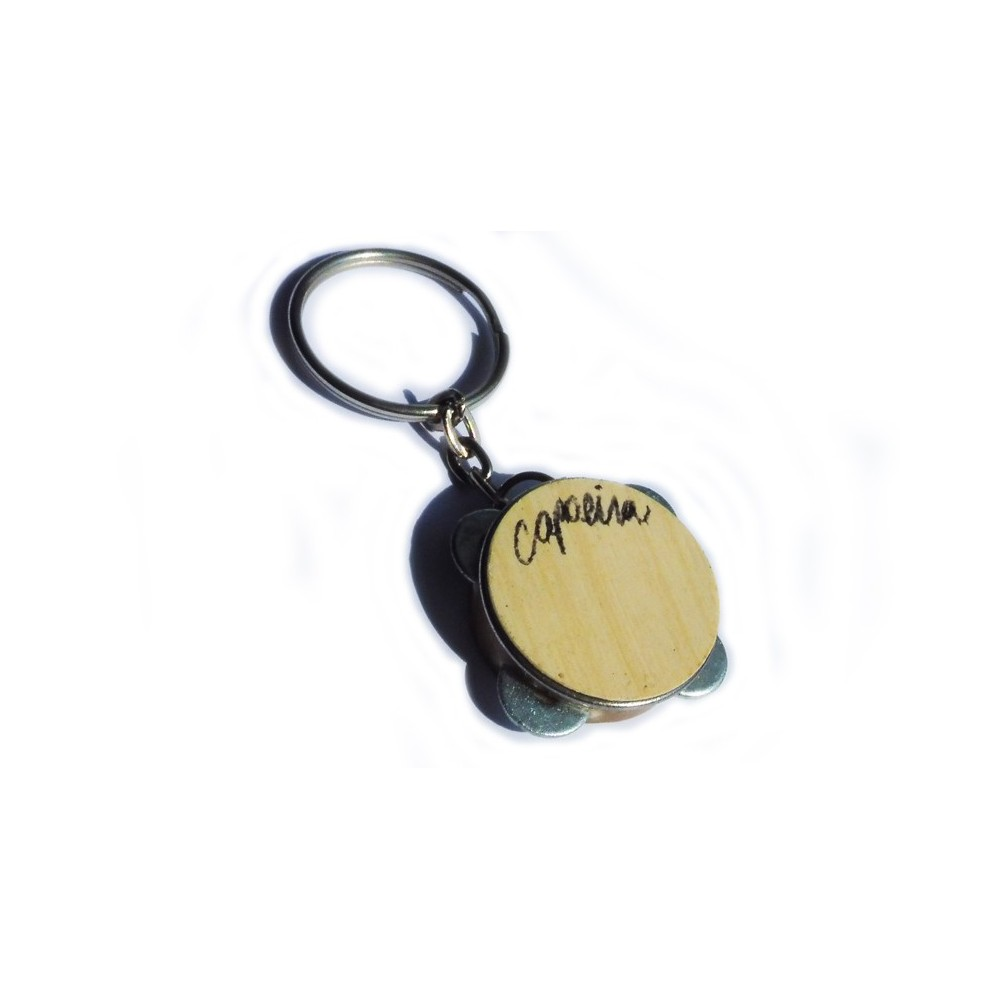 Mini pandeiro key ring