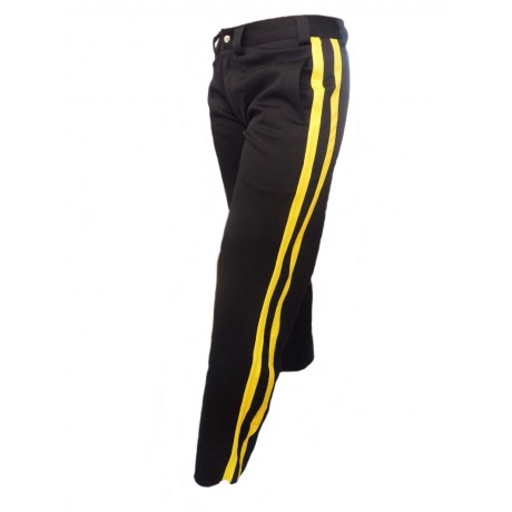 Capoeira pants Angola black and yellow
