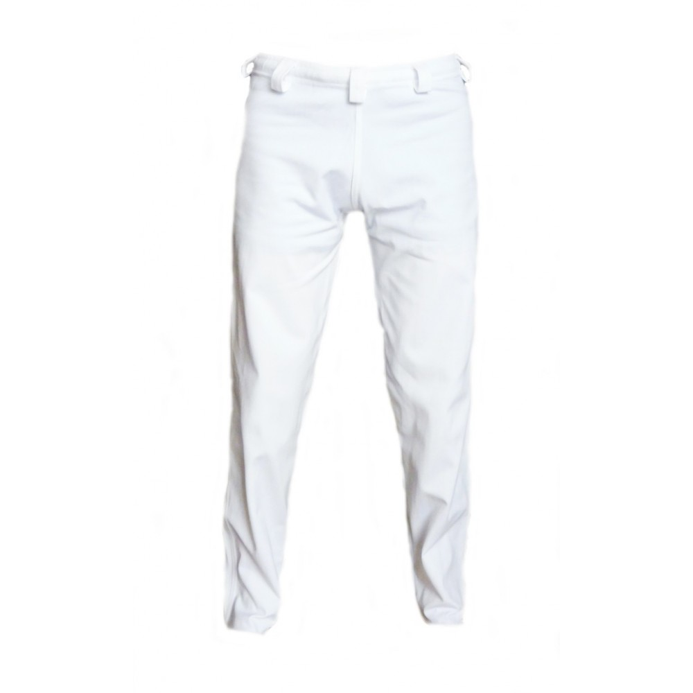 Capoeira White Abada Tapered-Carrot Cut