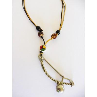 Necklace Pendant Berimbau Brown