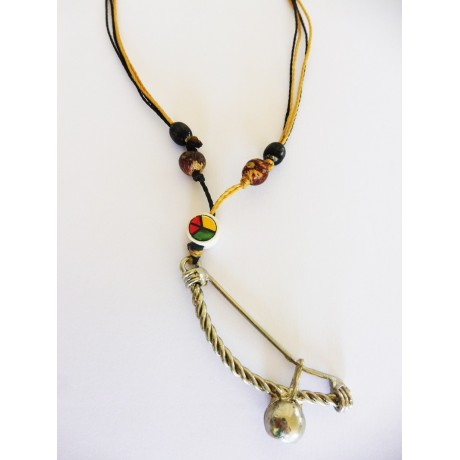 Necklace Pendant Berimbau Brown