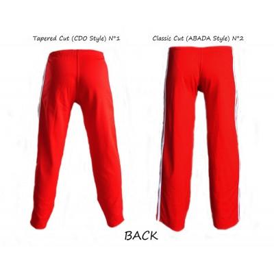 Pantalon Capoeira Rouge Rayé Blanc