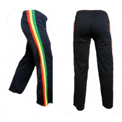 Calças de capoeira infantil - Jamaica preto