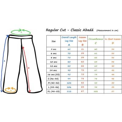size Pantalones Capoeira Negro Jamaica