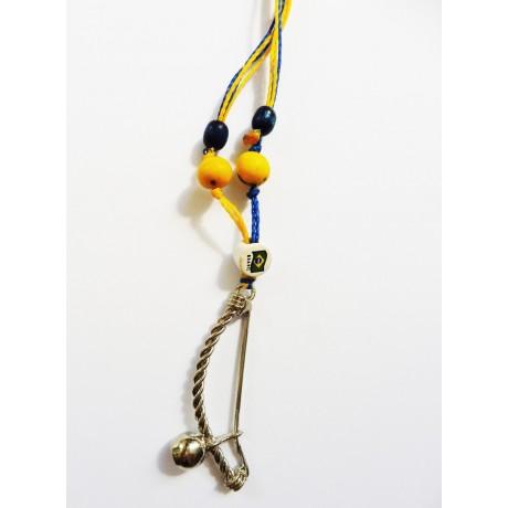 Berimbau necklace - Blue Yellow