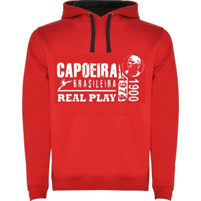 Felpa con cappuccio Capoeira - Unisex Real Play Rosso