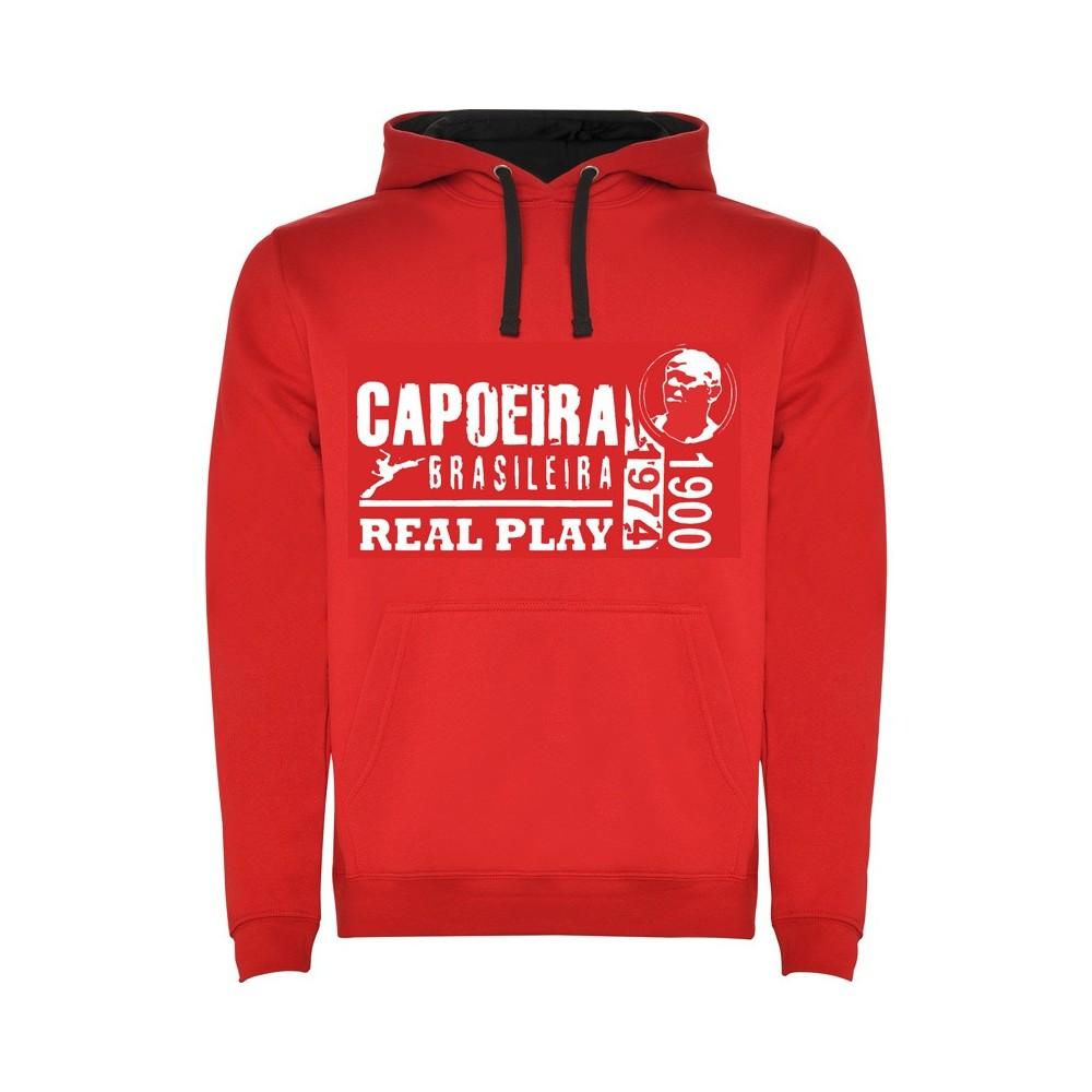 Sweat Capuz Capoeira - Unisexe Real Play Vermelho