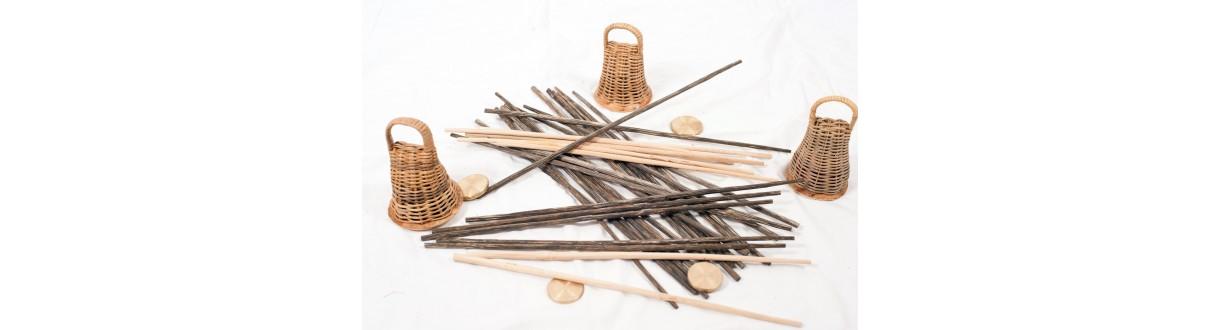 Material de capoeira y accesorios: Caxixi, baguette, Arame, Dobrao, Rami