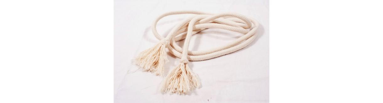 Corda capoeira. Cinto em algodão. Adulto (10mm) e criança (8mm)