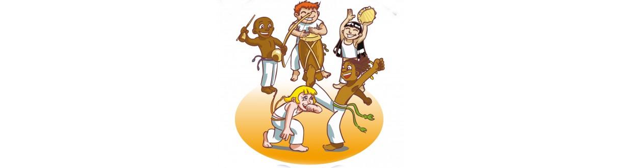 Calças de capoeira, roupas e instrumento de capoeira infantil. envio 24h