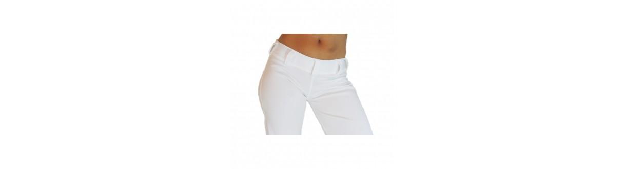 Calças Capoeira Mulher: Abada oficial, jogging algodão. Envio 24h.