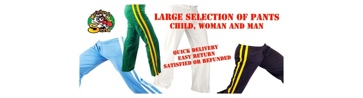 Capoeira pants. Abada for women, men and kids. 24h shipping. 100% Capoeira Store.